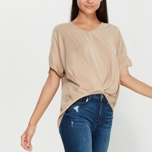 Jolie V Neck Short Sleeve Blouse L
